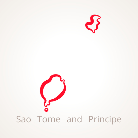 Outline map of Sao Tome and Principe marked with red line.