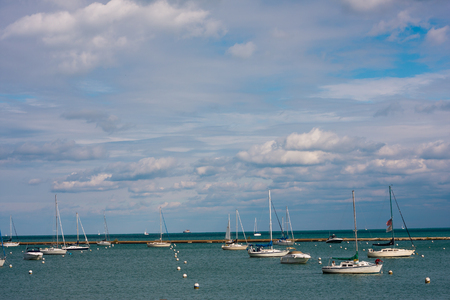 boats on water in chicago lake