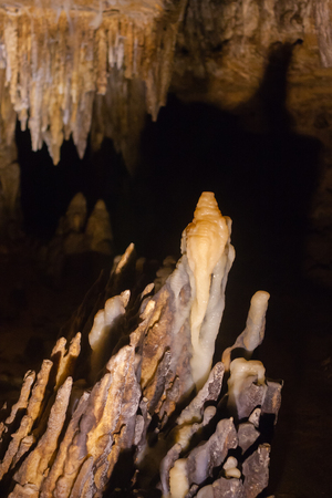 stalacites and stalagmites form