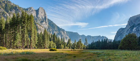 yosemite national park sunset panorama