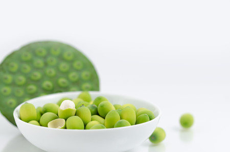 Green lotus seedslotus nut,lian zi - the Chinese herb that normally used in traditional Chinese medicine.