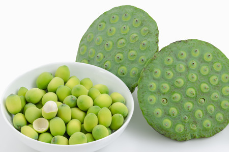 Green lotus seeds lotus nut,lian zi - the Chinese herb that used in traditional Chinese medicine.
