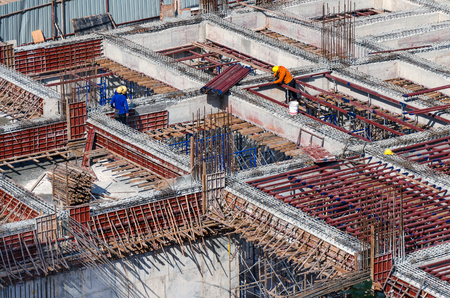 Workers in construction site.