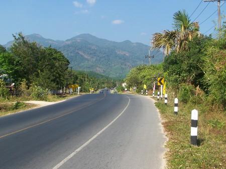contryside: road through the mountain