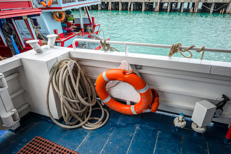 buoy: Ring buoy rope