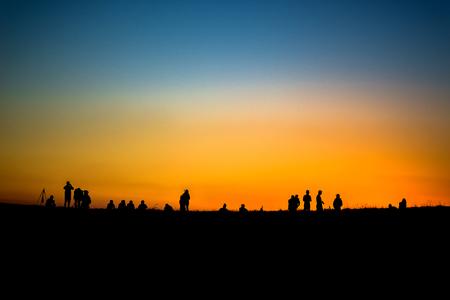people shadow: silhouette people