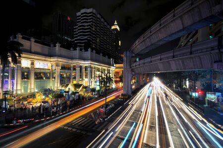 night traffic: Night Traffic in Bangkok Editorial