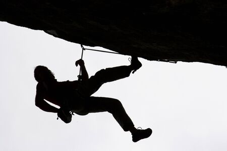 Extreme climbing in the top levels of difficulty Stock Photo - 9016148