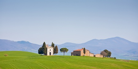 One of the most famous photo motive in Tuscany Stock Photo