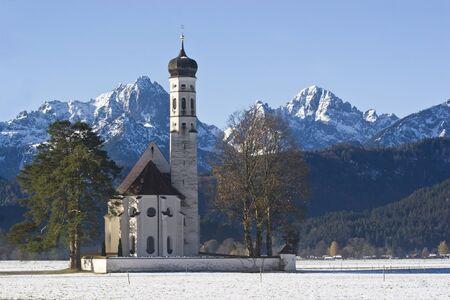 schwangau: e small Baroque church of St. Coloman located near Schwangau