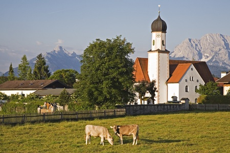 wallgau - village in bavaria Stock Photo