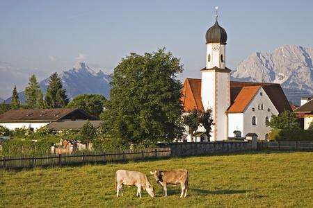 Wallgau - village en Bavière Banque d'images - 9094937