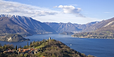 varenna and lake Como Stock Photo