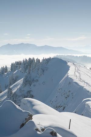 bavarian mountains in winter Фото со стока