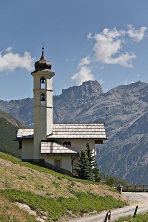 mountain church in Livigno photo