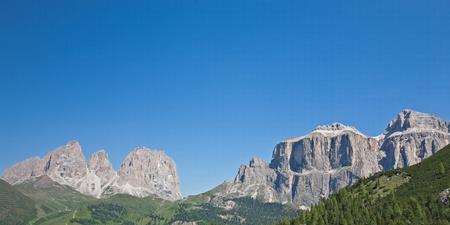 sella: Sella and Langkofel are the heart of the Dolomites Stock Photo
