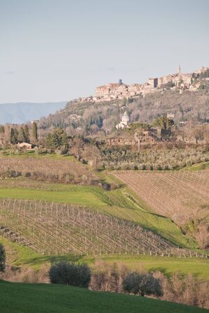 montepulciano: Montepulciano, - famous wine town in Tuscany