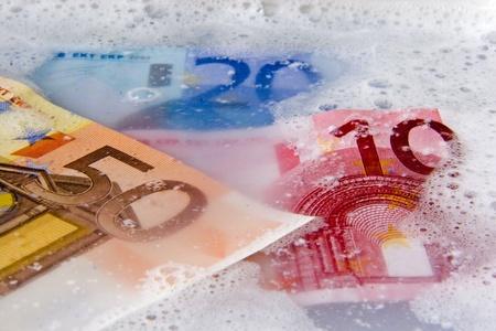 proverbial money laundering Standard-Bild