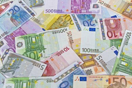 billets euros: L'image de fond - beaucoup de billets en euros diff�rents