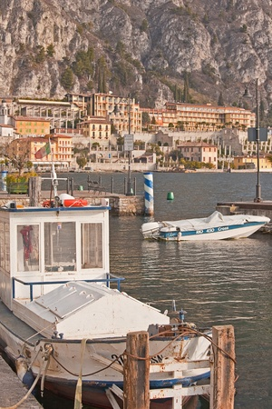 Work boats in Limone on Lake Garda Stock Photo - 10638169