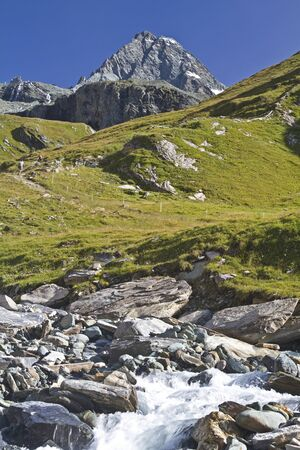 View of the Grossglockner Stock Photo