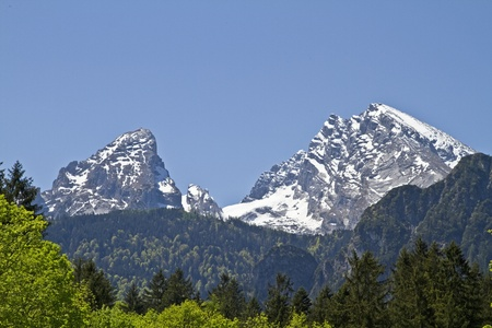 Watzmann - second highest mountain in Germany Stock Photo