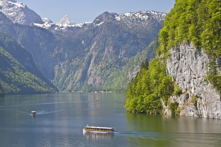 Look at the Koenigssee in Berchtesgaden country