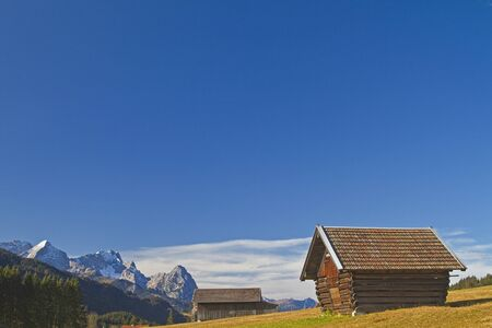 Hay huts near Garmisch in Bavaria photo