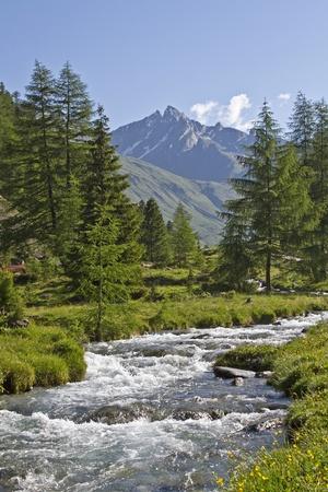 rein: Mountain idyll in Rein valley Stock Photo