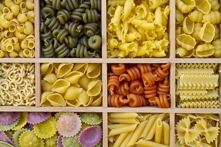 Pasta selections - Still life with many different types of pasta Stock Photo - 11627796