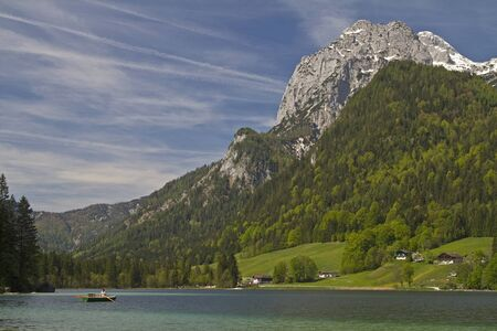 small mountain lake in the Berchtesgaden country photo
