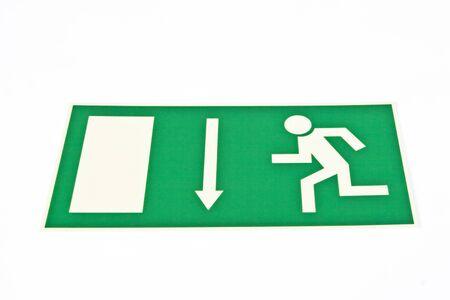 in an emergency follow that arrow Standard-Bild