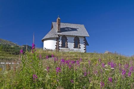 Idyllic little chapel on Rolle pass photo