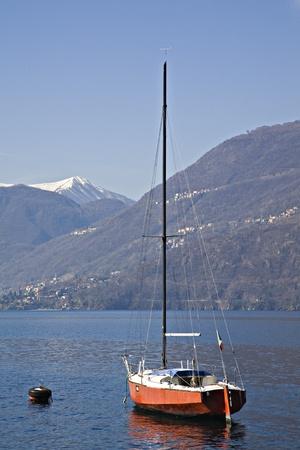 lake como: zeilschip aan het Comomeer Stockfoto
