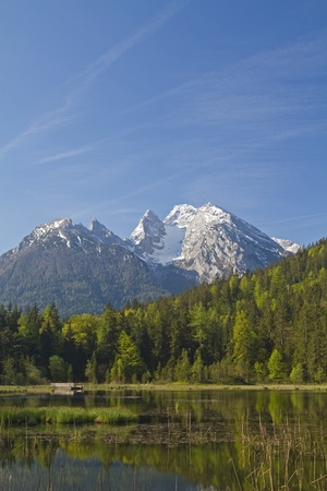 berchtesgaden: Taubensee - tiny mountain lake near Berchtesgaden