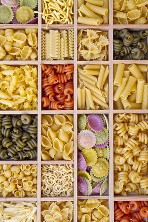 selections: Pasta selections - Still life with many different types of pasta
