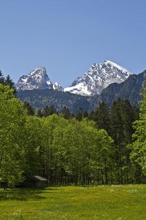 berchtesgaden: Watzmann - second highest mountain in Germany Stock Photo