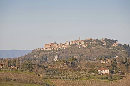 Montepulciano - known wine village in Tuscany