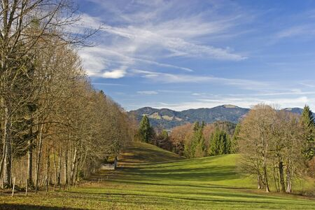 Autumnal idyll in the countryside Isarwinkel in Upper Bavaria photo