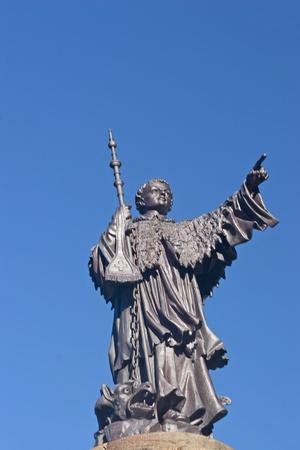 The statue of St. Bernard at the pass of Grand  St. Bernard Pass photo