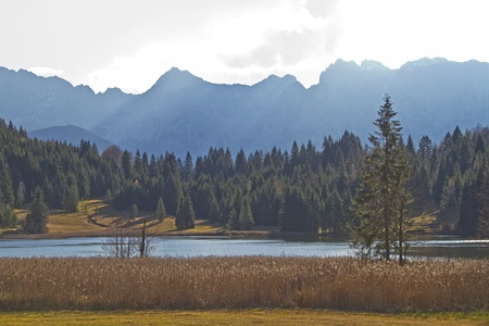 Geroldsee - idyllic lake in Upper Bavaria photo