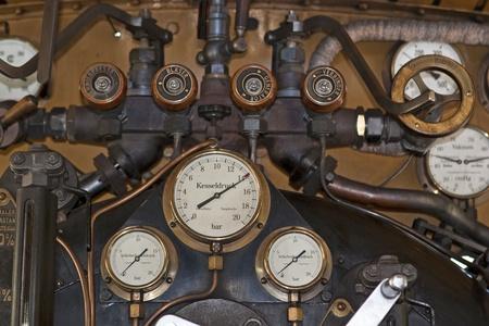 Detail of a steam locomotive engine room