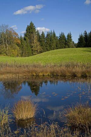 sump: Piccolo lago in Alta Baviera Archivio Fotografico