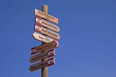 Signposts in South Tyrol