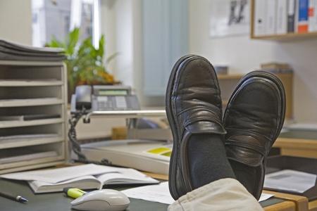 Lunch break at the office Archivio Fotografico