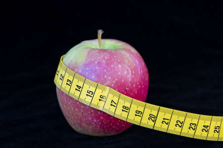 consciously: Apple Diet - a fruit day for weight loss Stock Photo