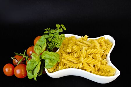fusilli: Fusilli - popular pasta Stock Photo