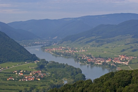 landscape Wachau in Austria Stock Photo
