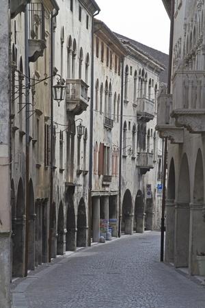 martiri: Via Martiri della Liberta in Serravalle Stock Photo