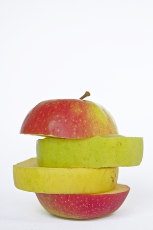 low cut: Apple mix of different apple varieties
